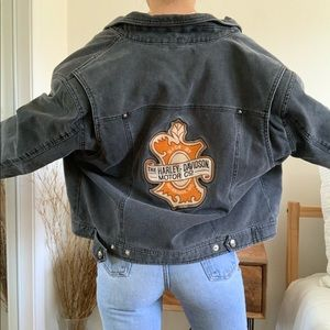 Rare Harley-Davidson Motorcycle Button Down Jacket